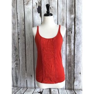 J Crew Perfect Fit Ribboned Front Pleated Tank Top